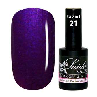 Gel Polish 2 in 1 - 21 Pearly Violet