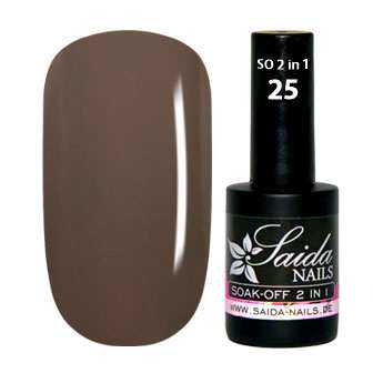 Soak Off Gel 2 in 1 - 25 Taupé Brown WITHOUT TACKY LAYER!