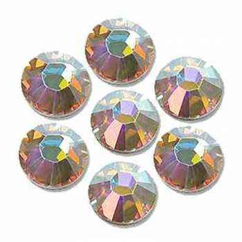 Rhinestones SS3 / 1,4 mm, iridescent - 100 pcs.