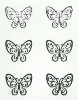 Metallic Sticker 03 Butterfly, silver