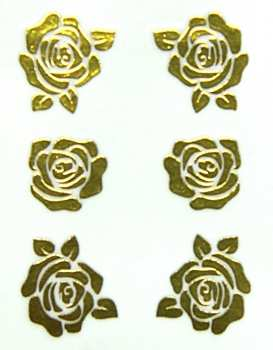Metallic Sticker 06 Full Rose, gold
