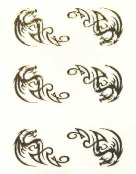 Metallic Sticker 10 Tribals, gold