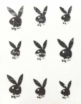 Metallic Sticker 11 Bunny, silver