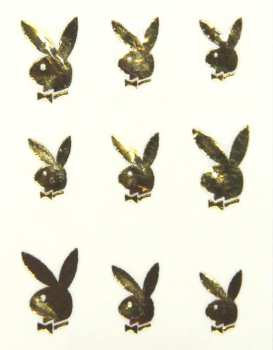 Metallic Sticker 12 Bunny, gold