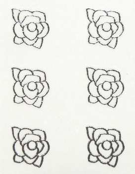 Metallic Sticker 19 Rose, silver