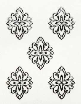 Metallic Sticker 21 Ornament, silver