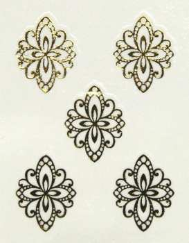 Metallic Sticker 22 Ornament, gold