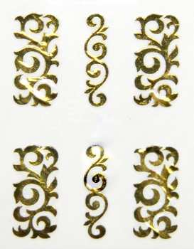 Metallic Sticker 26 Art, gold