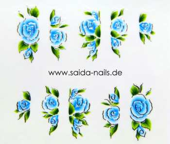 Sticker Blue Rose