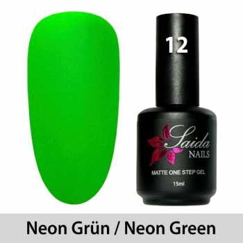 LED One Step Matte Gel 12 NEON GREEN