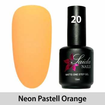 LED One Step Matte Gel 20 NEON PASTEL ORANGE