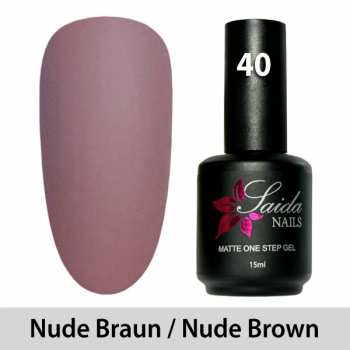 LED One Step Matte Gel 40 NUDE BRAUN