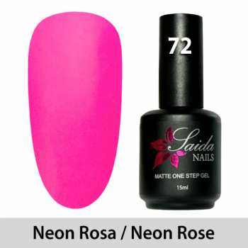 LED One Step Matte Gel 72 NEON ROSE