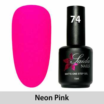 LED One Step Matte Gel 74 NEON PINK