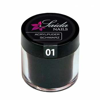 Acrylic Powder 01 BLACK, 7,5 g/10 ml