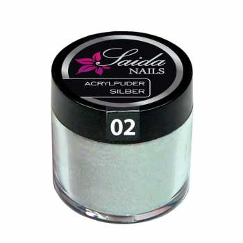 Acrylpuder 02 SILBER, 10 g