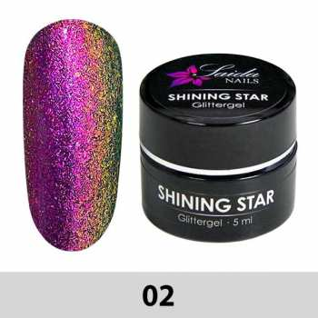 02 Shining Star Glittergel - Pink-Gold