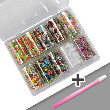Foil Box X-MAS + Rubber Tool